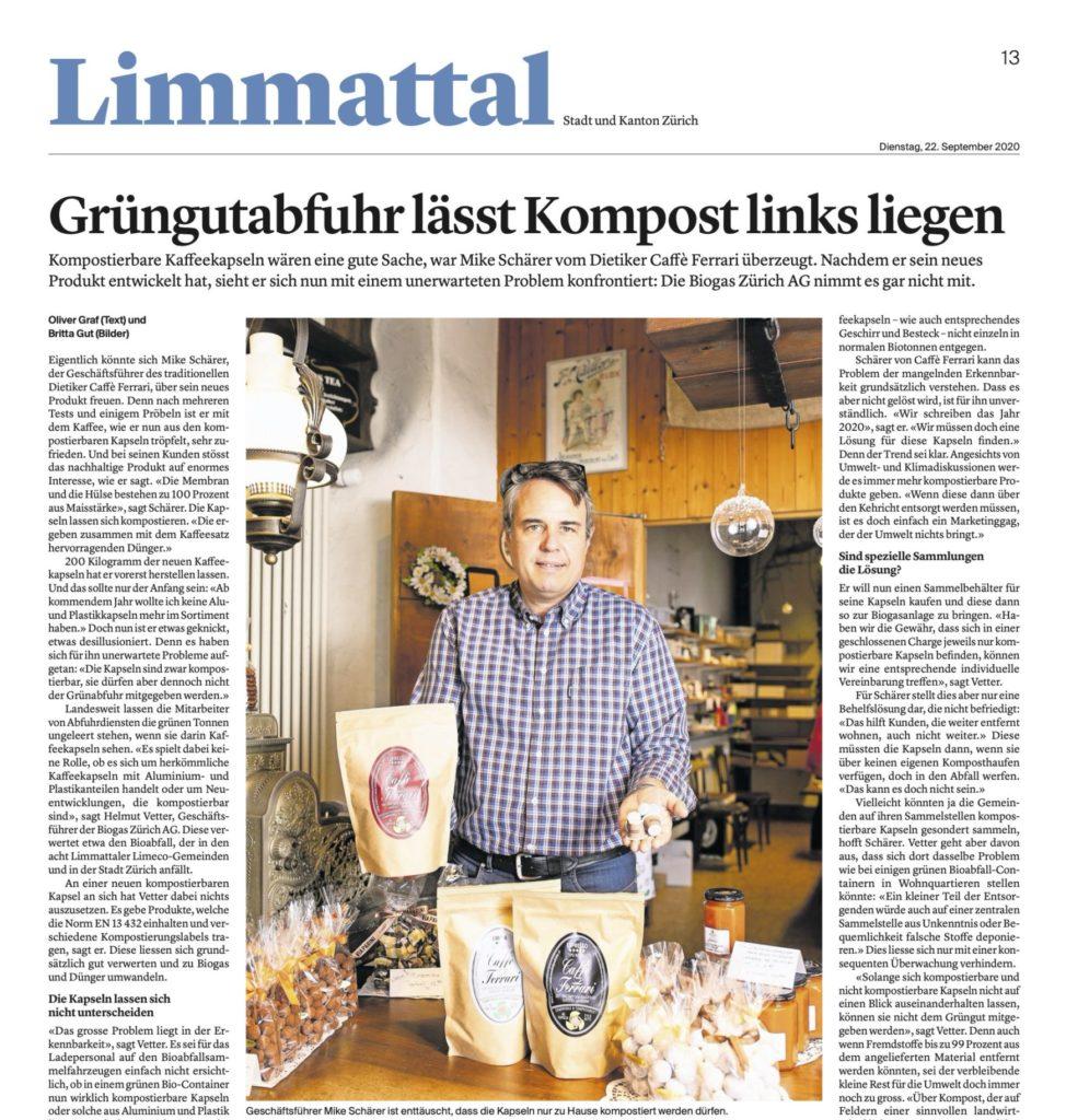 Ausschnitt der Limmattaler Zeitung